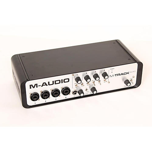 M-Audio M-Track Quad 4 Channel Audio Plus USB MIDI Interface-thumbnail