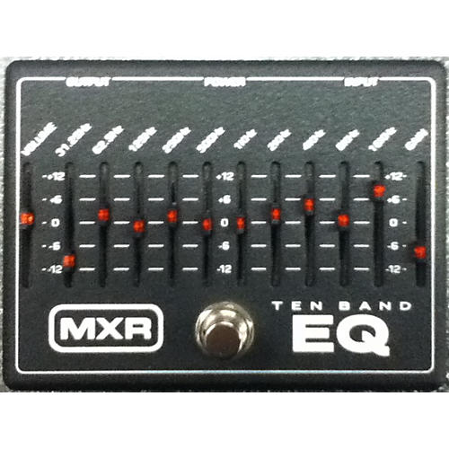 MXR M108 10 Band EQ Black And White Pedal-thumbnail