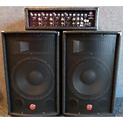 Harbinger M120 120 Watt 4 Channel Compact Portable PA With 12in Speakers Sound Package