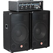 "Harbinger M120 120-Watt 4-Channel Compact Portable PA with 12"" Speakers"