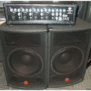 used harbinger m120 portable pa system powered speaker guitar center. Black Bedroom Furniture Sets. Home Design Ideas