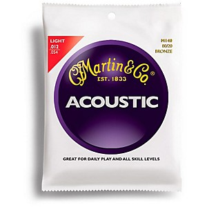 Martin M140 80/20 Bronze Light Acoustic Guitar Strings