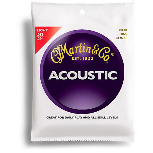 Martin M140 80/20 Bronze Light Acoustic Guitar Strings-thumbnail