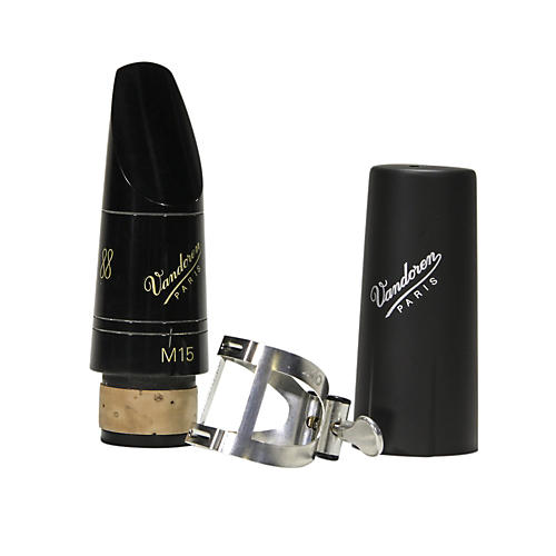Vandoren M15 Profile 88 Bb Clarinet Mouthpiece package with M/O Pewter Ligature and Plastic Cap-thumbnail