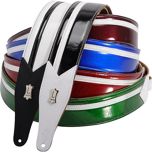 Levy's M17FS Vinyl Racing Stripe Guitar Strap-thumbnail