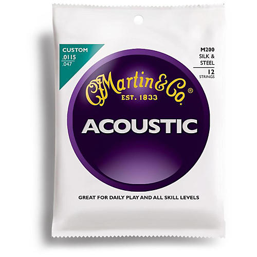 Martin M200 12-String Silk and Steel Custom Acoustic Guitar Strings-thumbnail