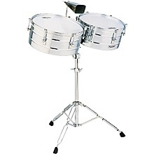 """LP M257 Matador Series 14"""" and 15"""" Steel Shell Timbales Set Level 1"""