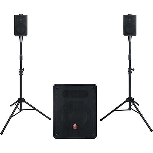 harbinger m350 portable pa system with subwoofer guitar center. Black Bedroom Furniture Sets. Home Design Ideas