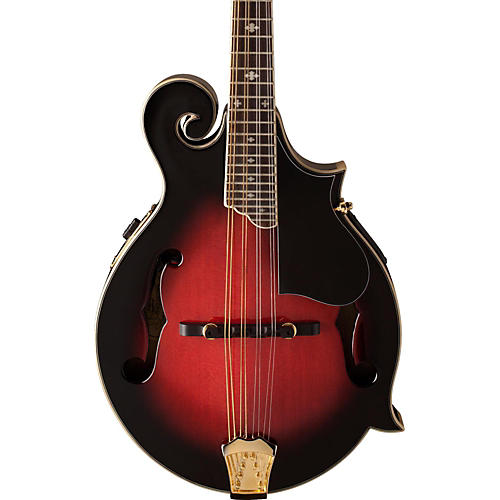 Washburn M3SWE F-Style Acoustic-Electric Mandolin w/case Transparent Wine Red