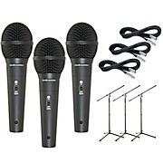 Audio-Technica M4000S 3-Pack Mic and Stand Kit