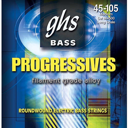 GHS M4500 Boomers 52S Roundwound Electric Bass Guitar Strings
