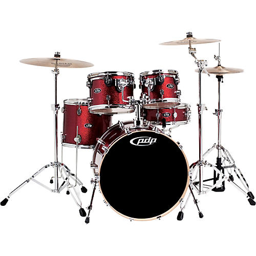 PDP by DW M5 Limited Edition Red Sparkle 5-piece Shell Pack
