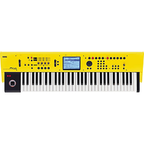 Korg M50 61-Key Workstation - Limited Edition Yellow-thumbnail