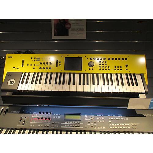 used korg m50 61 yellow keyboard workstation guitar center