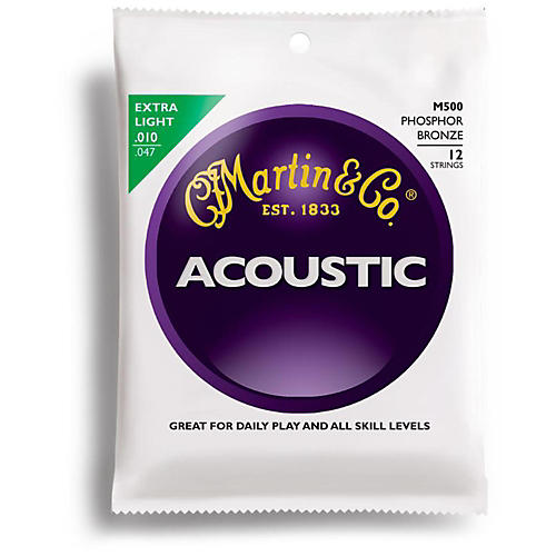 Martin M500 12-String Phosphor Bronze Extra Light Acoustic Guitar Strings