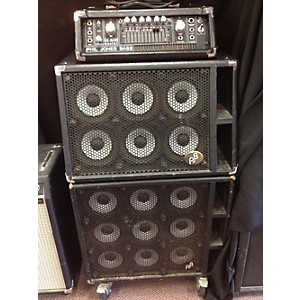Pre-owned Phil Jones Bass M500 with 6t and 9b Piranha Cabinets Bass Stack