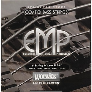 Warwick M5B EMP COATED 5 String Bass Strings Medium by Warwick