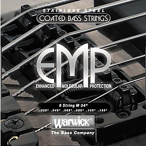 Warwick M6 EMP COATED 6 String Bass Strings Medium by Warwick
