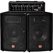 Harbinger M60 60-Watt, 4-Channel Compact Portable PA with 10 in. Speakers