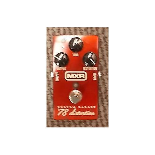MXR M78 1978 Custom Badass Distortion Candy Apple Red Effect Pedal