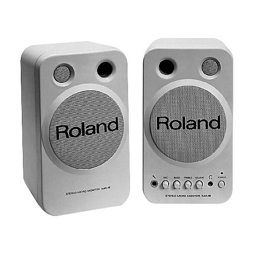 Roland MA-8 White Monitor Pair-thumbnail