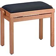 Stagg MAPLE PIANO BENCH MATT+BLACK VELVET TOP