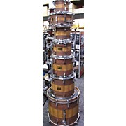 Pork Pie USA MAPLE ROSE WOOD &ZEBRA WOOD VEENER Drum Kit