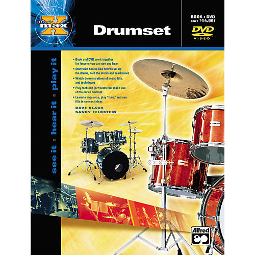 Alfred MAX Series Drumset Instruction (Book/DVD)-thumbnail