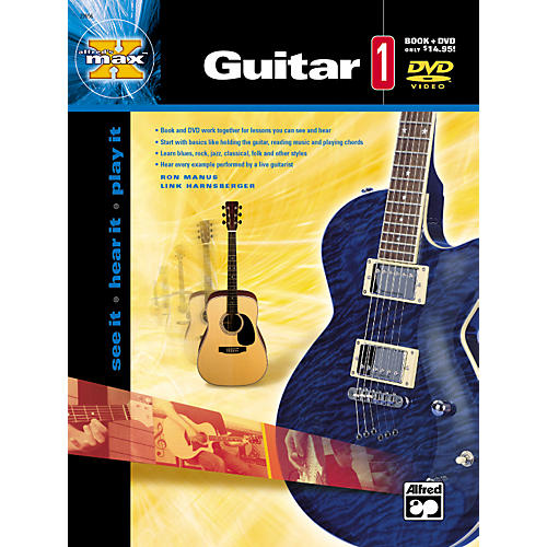 Alfred MAX Series Guitar Instruction 1 (Book/DVD)-thumbnail
