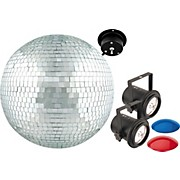 "Venue MB12K 12"" Mirror Ball Dual Pin Spot Combo"