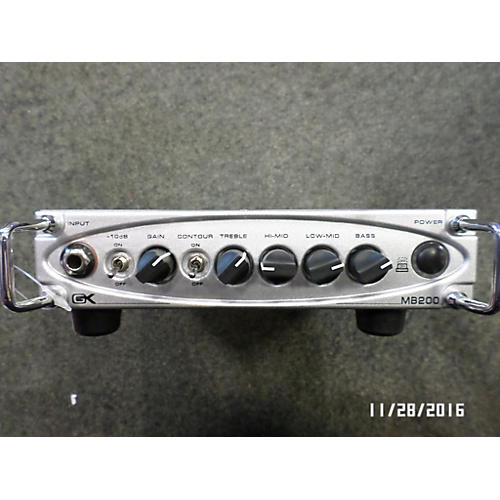 Gallien-Krueger MB200 200W Ultralight Bass Amp Head-thumbnail
