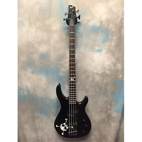 Squier MB4 Skull & Crossbones Electric Bass Guitar-thumbnail