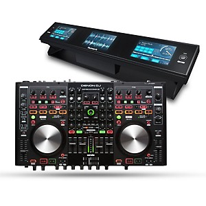 Denon MC6000Mk2 Digital Mixer and Controller with Dashboard 3-Screen Displa... by Denon