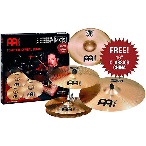 Meinl MCS 3-Cymbal Set + Free 16 Inch China-thumbnail