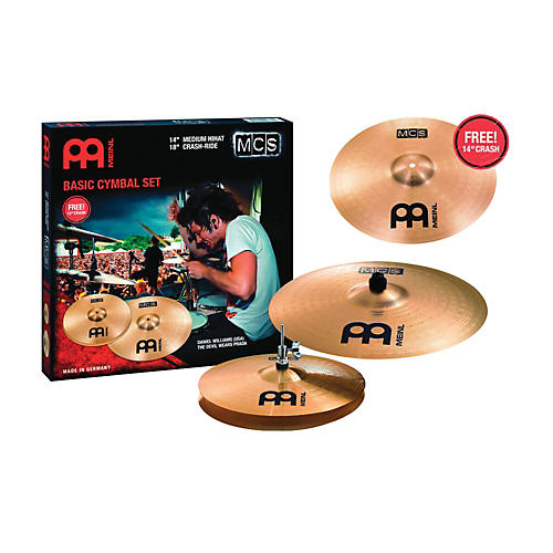 Meinl MCS Cymbal Pack with Free 14 Inch Crash-thumbnail