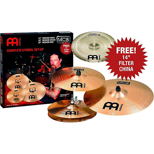Meinl MCS Cymbal Pack with Free Filter China-thumbnail