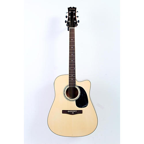 Mitchell MD100CE Dreadnought Cutaway Acoustic-Electric Guitar Natural 888365232928