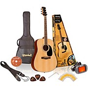MD100PK Dreadnought Acoustic Guitar Pack Natural