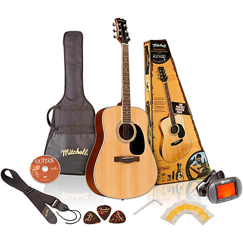 Mitchell MD100PK Dreadnought Acoustic Guitar Pack-thumbnail