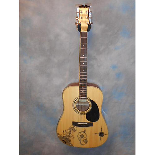Mitchell MD100S Natural Acoustic Guitar-thumbnail