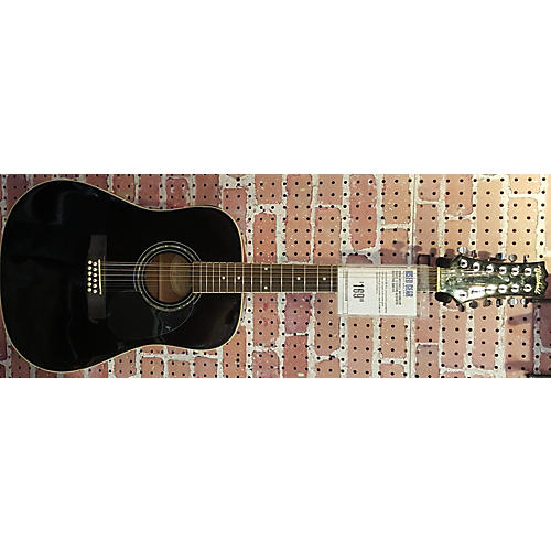 Mitchell MD100S12E Black 12 String Acoustic Electric Guitar