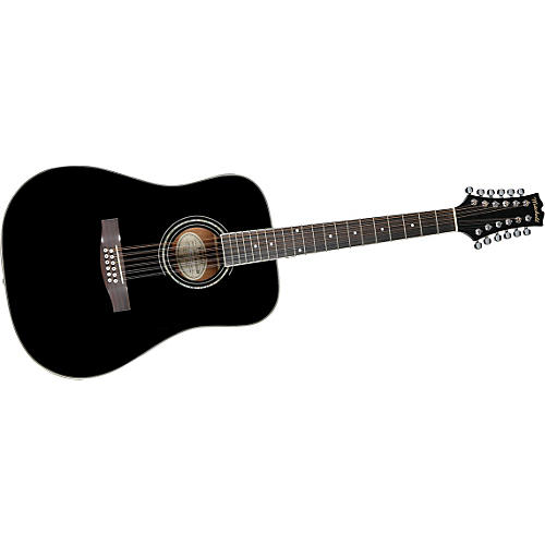 Mitchell MD100S12EBK 12-String Dreadnought Acoustic-Electric Guitar-thumbnail