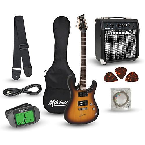 mitchell md150pk electric guitar launch pack with amp 3 color sunburst guitar center. Black Bedroom Furniture Sets. Home Design Ideas