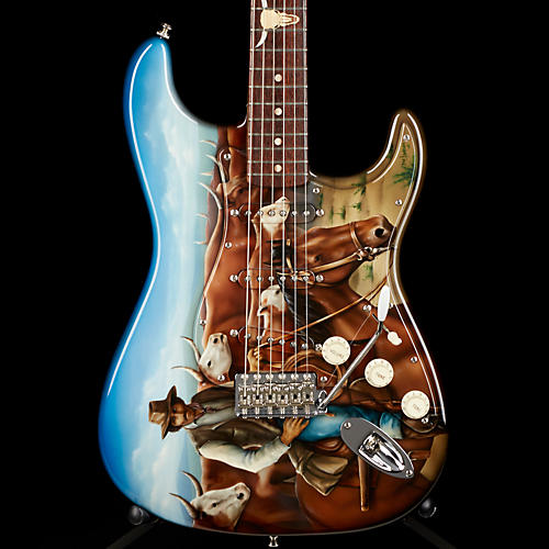 Fender Custom Shop MEDIEVAL TELE MBYS Cowboy/Cattle Graphic by Dan Lawrence