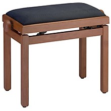 Stagg MEDIUM WILD CHERY PIANO BENCH MATT+BLACK VELVET TOP