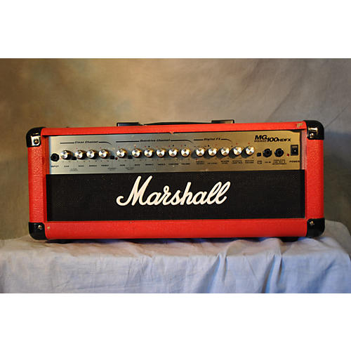 Marshall MG100HDFX 100W Limited Edition Red Solid State Guitar Amp Head