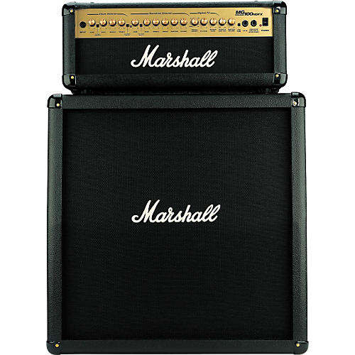 Marshall Mg100hdfx Mg412 Slant Cab Half Stack Package