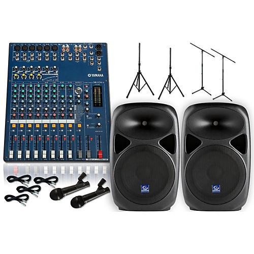 Yamaha MG124CX Gem Sound PXB150 PA Package