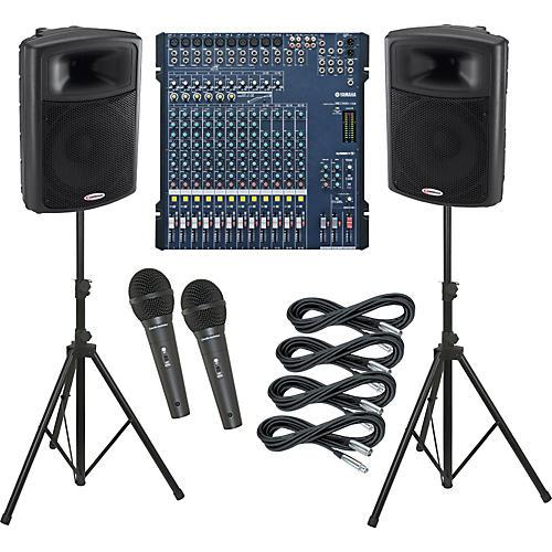Yamaha MG166C-USB / Harbinger APS15 PA Package