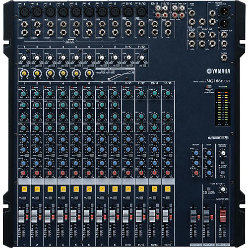 Yamaha MG166C-USB 16 Channel USB Mixer With Compression-thumbnail